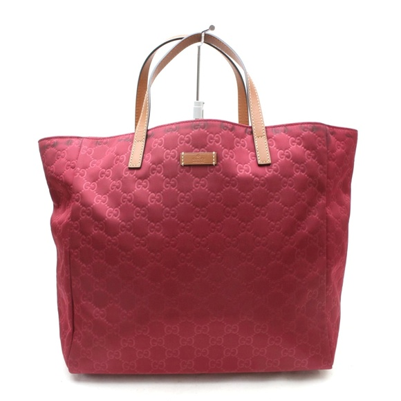 a2ffff902d5b Gucci Bags | Auth Red Nylon Tote Bag 100gto134 | Poshmark